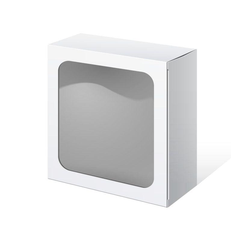 Caixa Quadrada com Grande Visor